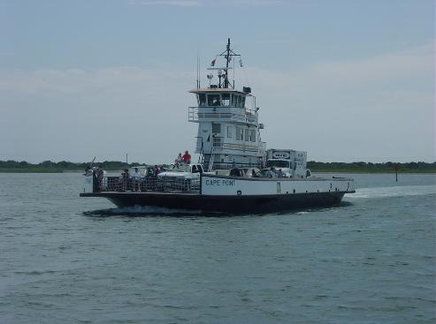 Ride the ferry from Ocracoke to Hatteras Island.  Its free courtesy of NC DOT
