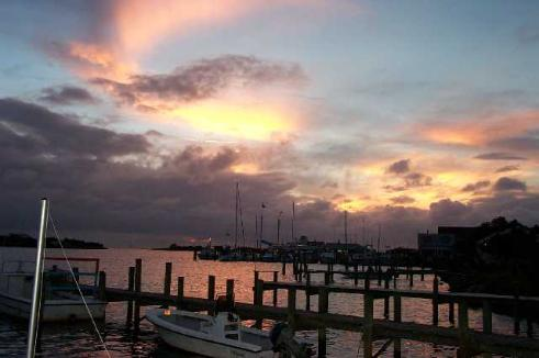 Take a drive to Ocracoke and enjoy a meal on Silverlake Harbor